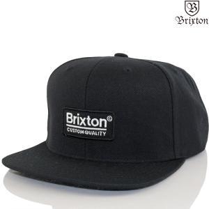 帽子 キャップ Brixton ブリクストン Palmer II MP Snapback Cap ブラック パルマー ブランド ファッション メンズ レディース|cutback2