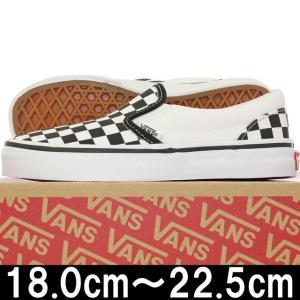 キッズ 靴 VANS バンズ Kids Classic Slip On Checkerboard Black/True White ヴァンズ スリッポン スニーカー シューズ 子供 チェッカー cutback2