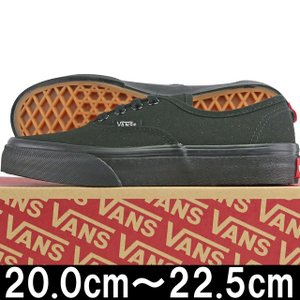 キッズ 靴 VANS バンズ Kids Classic Authentic Black/Black ヴァンズ オーセンティック スニーカー シューズ 子供 cutback2