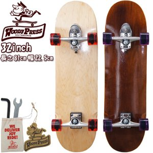 スケボー スケートボード コンプリートWOODY PRESS ウッディープレス 32inch (長さ81cm) スラスターシステム2 コンプリート|cutback2