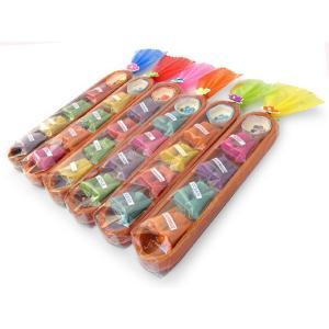お香 木製ケース入り 三角香(4種類詰め合わせ)アロマ 人気 ギフト 記念品 配り物|cutemania