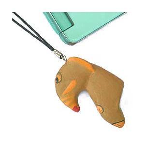 ストラップ 木彫り 動物(ゾウ)携帯ストラップ キーホルダー バッグチャーム 可愛い ギフト 記念品 アジア雑貨|cutemania