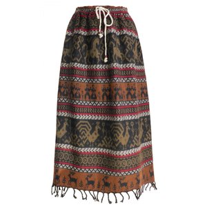 スカート ロング 厚手 あったか 起毛 手織り 保温 防寒 オーバースカート(B)フリーサイズ ウエストゴム&ストリング 洗濯可能|cutemania