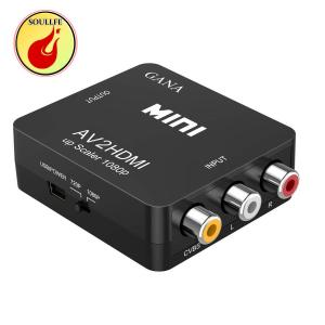 RCA to HDMI変換コンバーター GANA AV to HDMI 変換器 AV2HDMI US...