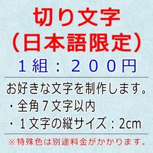 切り文字 名入れステッカー 商品サイズ 約2.5cm×16cm|cuttingsoul