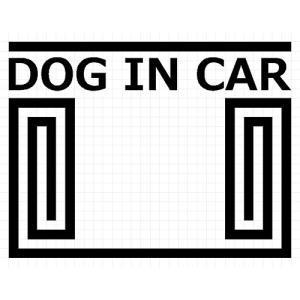 DOG IN CAR 01 犬 8cm用オプション ステッカー|cuttingsoul