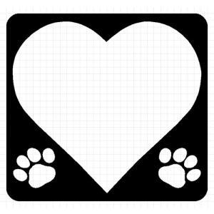 I LOVE DOG 03 犬 8cm用オプション ステッカー|cuttingsoul