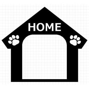 DOG IN HOUSE 03 犬 8cm用オプション ステッカー|cuttingsoul