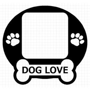 I LOVE DOG 05 犬 8cm用オプション ステッカー|cuttingsoul