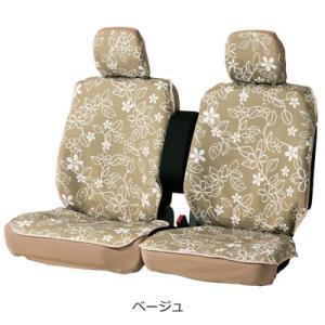 ボンフォーム 4337-52 リーフスタイルシートカバー 前席用2枚入り ベージュ|cvskumamoto
