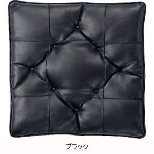 ボンフォーム 5128-06 ソフトレザーステッチ シングルクッション ブラック 47X47cm|cvskumamoto