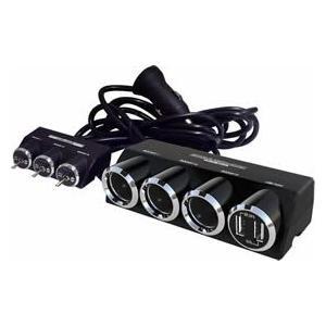 カシムラ KX-180 3連セパレートスイッチソケット+USB2口|cvskumamoto
