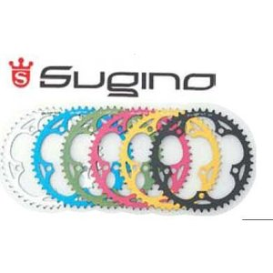 【在庫処分売り切り特価】 チェンリング Sugino 130J メッセンジャー 44T 1/8 GOLD|cw-trinity