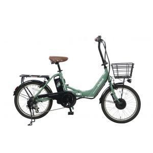 電動アシスト 自転車 アルミ 20インチ 折りたたみ 電動自転車 シマノ 外装 6段変速 PELTE...