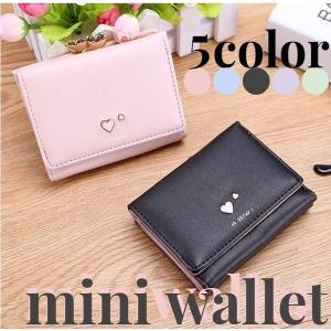 三つ折り財布 レディース がま口 ミニ サイフ 財布 コンパクト ポケットサイズ おしゃれ かわいい cwstore