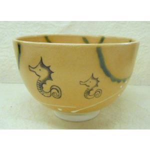 干支茶碗 弥七田織部・竜の絵茶碗 隆山作|cyadougu-hougadou
