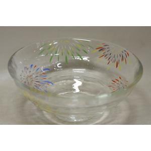 ガラス平茶碗 花火の絵|cyadougu-hougadou