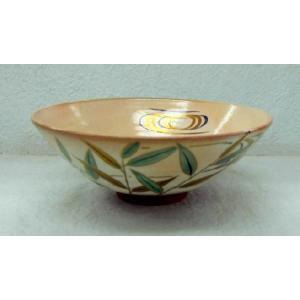 <茶道具・茶碗>流水に芦の絵平茶碗 高島邦山作|cyadougu-hougadou