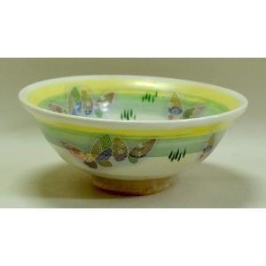蝶々の絵平茶碗 いちい窯作 人気のお抹茶茶碗です|cyadougu-hougadou