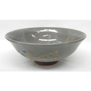 乾山写 水草にメダカの絵茶碗 巌窯作|cyadougu-hougadou