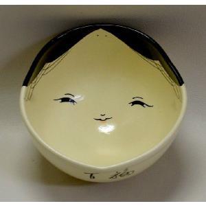 <茶道具・茶碗>お福の絵茶碗 八木海峰作|cyadougu-hougadou