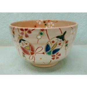しだれ雛の絵茶碗 喜白作|cyadougu-hougadou