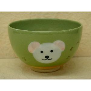 <茶道具・茶碗>白いイヌの絵の茶碗 紅山窯作|cyadougu-hougadou
