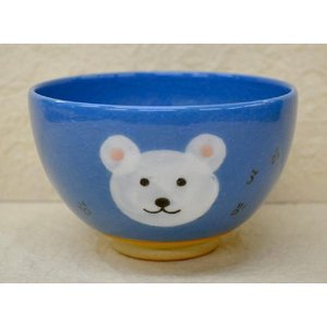 <茶道具・茶碗>白くまの絵の茶碗 紅山窯作|cyadougu-hougadou
