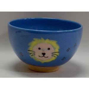 <茶道具・茶碗>ライオンの絵の茶碗 紅山窯作|cyadougu-hougadou