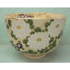 菊の絵茶碗 福本未来作|cyadougu-hougadou