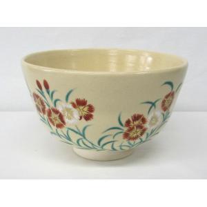 撫子の絵茶碗 清秀窯作|cyadougu-hougadou