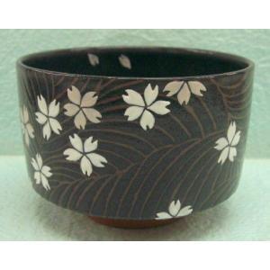 <茶道具・茶碗>桜の絵の茶碗 須山昇華作|cyadougu-hougadou