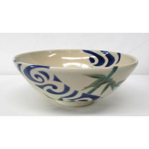 仁清写 竹に流水の絵平茶碗 山川司作 夏に涼しげな平茶碗です|cyadougu-hougadou