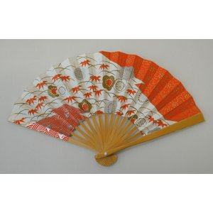 茶道用花月扇子 女性用 白竹 T|cyadougu-hougadou