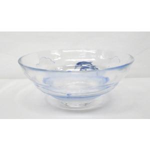 ガラス平茶碗 まぶしい海 平茶碗 片岡六兵衛作 耐熱ガラス使用 夏用の平茶碗 義山平茶碗|cyadougu-hougadou