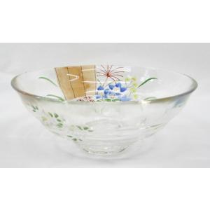 ガラス平茶碗 庭先にうつろう彩 片岡六兵衛作 耐熱ガラス使用 夏用の平茶碗 義山平茶碗|cyadougu-hougadou