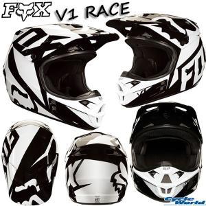 《セール特価》〔FOX〕V1 RACE《ブラック》レースヘルメット 2018 SG MFJ 大人用 オフロードヘルメット フォックス ダートフリーク 正規品|cycle-world