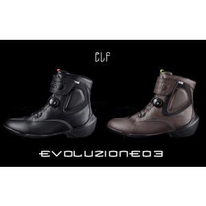 【elf】EVOLUZIONE03 エヴォルツィオーネ03 防水 ライディングシューズ ハイカット ショートブーツ  エボ03 エヴォ03 エルフ バイク用品|cycle-world