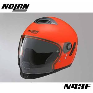 【NOLAN】N43E Trilogy ハイビィジビリティー オレンジ スタイルは6通り PINLOCK曇止めシート付属 ネオンカラー 蛍光 サンバイザー トリロジー ジェットヘル ノ|cycle-world
