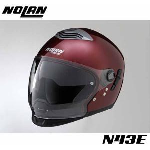 【NOLAN】N43E 単色 ワインチェリー スタイルは6通り PINLOCK曇止めシート付属 ソリッド サンバイザー トリロジー ジェットヘル ノーラン デイトナ DAYTONA【バ|cycle-world