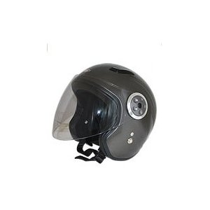 GPカンパニー SPJ-9102S Pilot Jet Helmet パイロットジェットヘルメットカラー ガンメタ 【バイク用品】 cycle-world