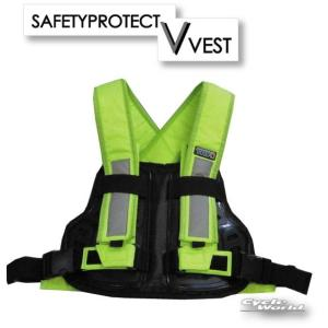 《あすつく》【SUOMY】TRP001 TRY1 セイフティプロテクトVベスト チェストプロテクター ボディ 胸用 胸部 安全 反射 ベスト エトス スオーミー cycle-world