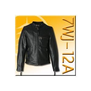 〔DEGNER〕 7WJ-12A レザージャケット(M〜XLサイズ) 革ジャン メンズ 牛革 正規品 デグナー バイク用品|cycle-world