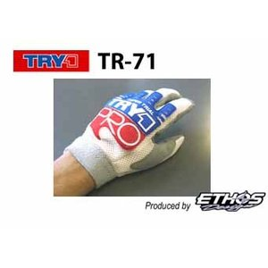 【送料無料★Ethos Design】TR71 トライワン・プログローブ トリコロール TRY1 トライアルグローブシリーズ エトスデザイン  【バイク用品】|cycle-world