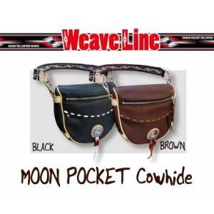 〔Rough Tail〕ウィーブライン ムーンポケット <カウハイドモデル> WEAVE LINE ヒップバッグ ウエストバッグ ショルダーバッグ 牛革 ラフテール|cycle-world