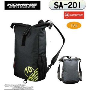 【KOMINE】 コミネ   SA-201 ウォータープルーフライディングバッグ 10 SA-201 Waterproof Riding Bag 10  防水バッグ ツーリングバッグ  梅雨対策 レイ|cycle-world