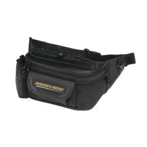 〔ラフ&ロード〕RR6900 ラフウエストバック 《カーボン》 ツーリング 鞄 かばん ウエストポーチ ラフロ ROUGH&ROAD バイク用品|cycle-world