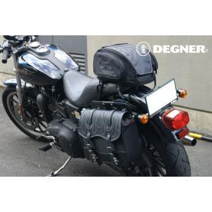 〔DEGNER〕 NB-1F ナイロンサドルバッグ(ファイヤー) 《容量:12L》 ファイヤーパターン デグナー バイク用品|cycle-world