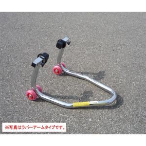 【Ethos Design】ミニダブルキャスタースタンド ラバータイプ高級クロームメッキ仕上げ 極太ミニバイク ベアリング入りエトスデザイン ジャッキ バイクジャッキ|cycle-world