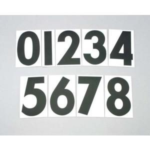 【ネコポス対応】【キタコ】ゼッケンシール 《ブラック》 3枚入り ゼッケンステッカー 数字 番号 レース 黒 クロ ステッカー ナンバー KITACO|cycle-world
